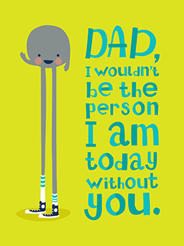 really suck father's day card