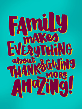 amazing family thanksgiving card