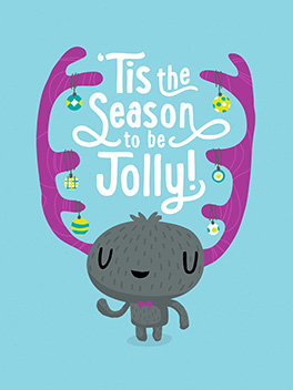 jolly time season's greetings card