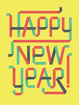 minty fresh happy new year card