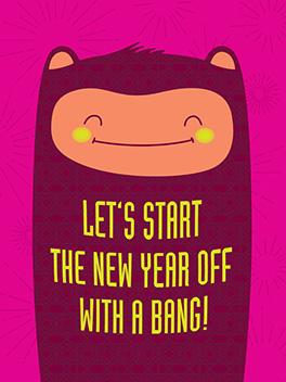bang! happy new year card