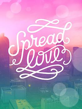 spread love valentine's day card