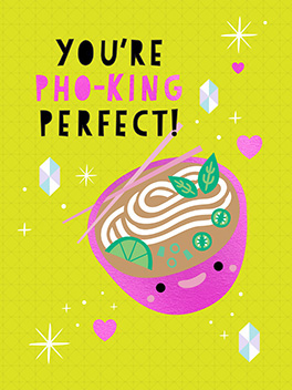 pho-king valentine's day card