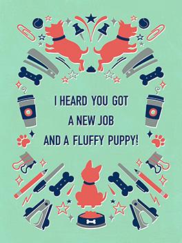 puppy new gig card
