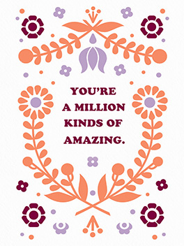 amazing times a million mother's day card
