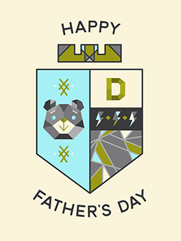 to dads father's day card
