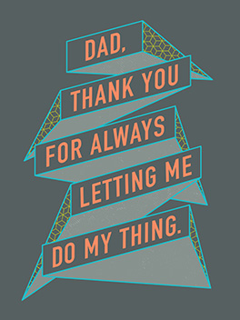 doing my thing father's day card