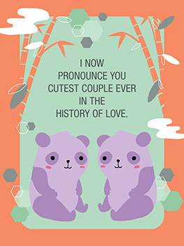 cutest couple ever the big day card